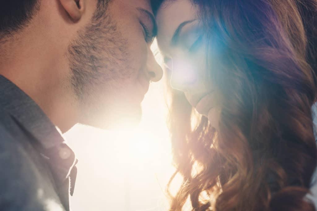 Sensual couple in love