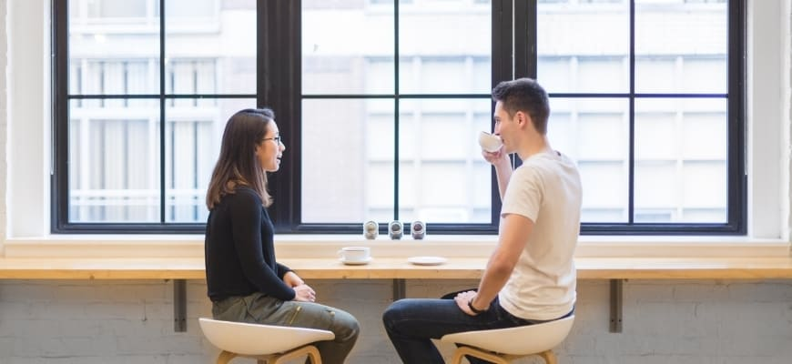 Couple on a coffee date