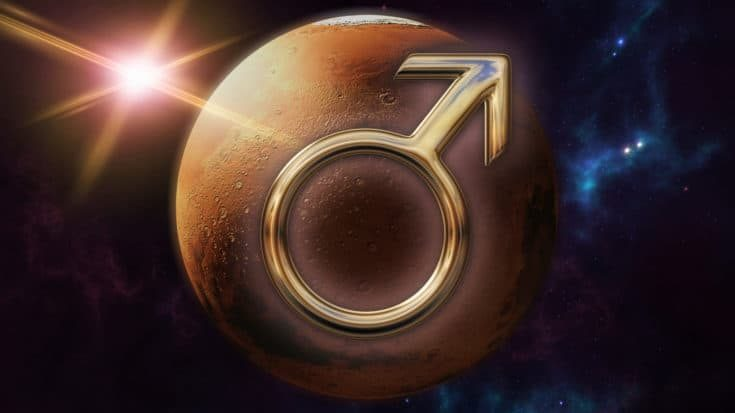 Mars zodiac horoscope symbol
