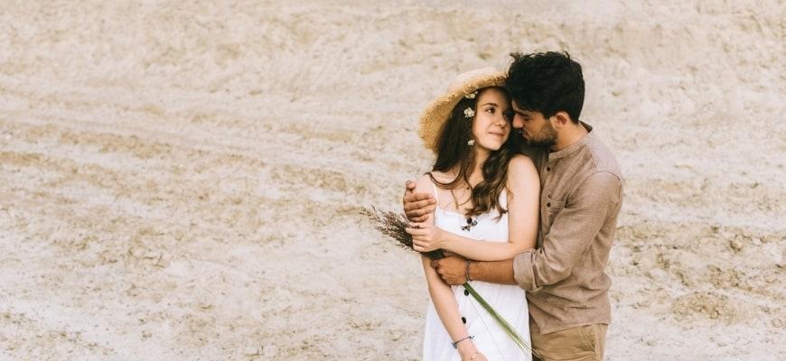 sweet couple outdoor photoshoot