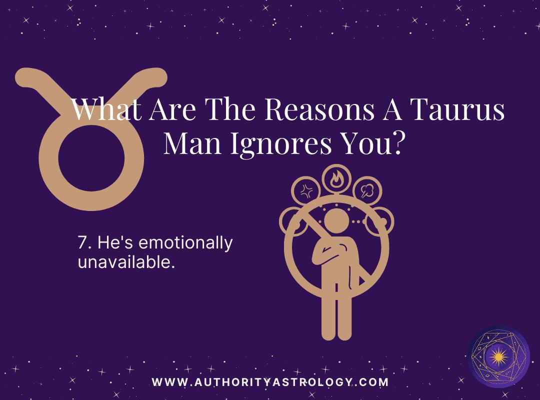 Reason 7: Why Taurus Man Ignore You - mini infographic