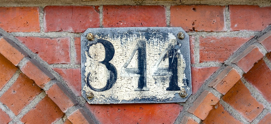 House number thee hundred and forty four (344)