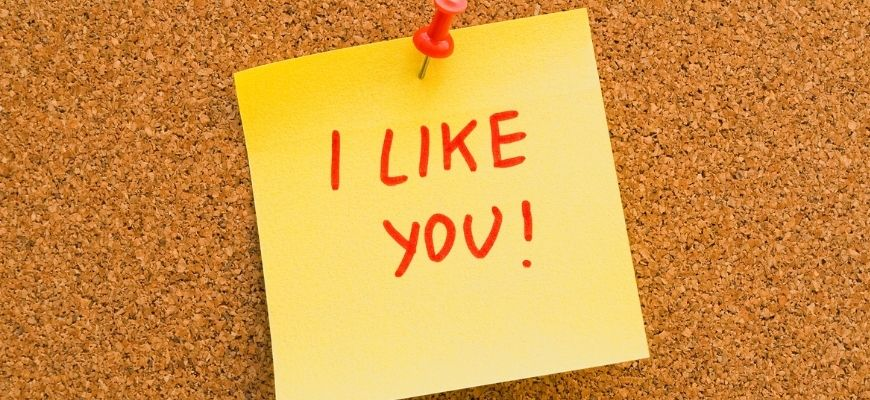 I Like You post it note